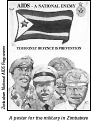 A poster for the military in Zimbabwe